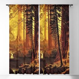 Giant Redwood Trees of California by Albert Bierstadt Blackout Curtain