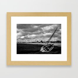 Beached Under Stormy Skies Framed Art Print
