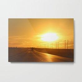 Westward Sunset Metal Print