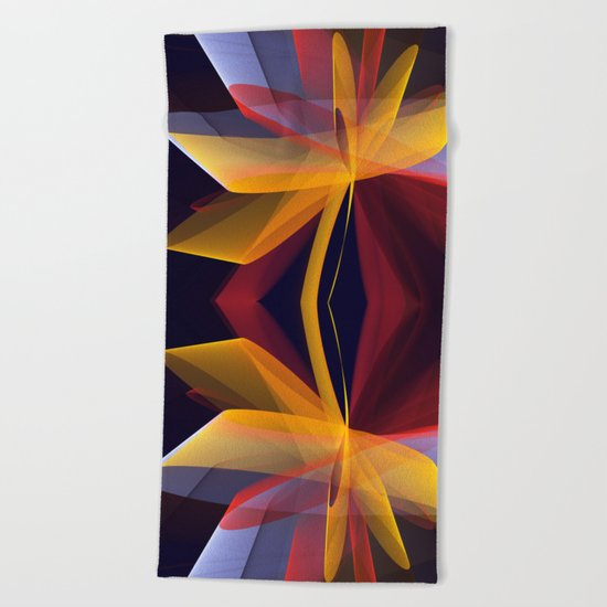 Transparent foldings, modern colourful abstract Beach Towel