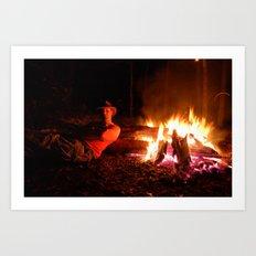 snow fire Art Print