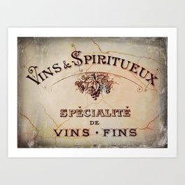 Vins & Spiritueux Art Print