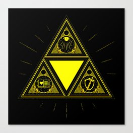 Light Of Triangle Canvas Print