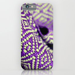 Undulating Twill Purple Green iPhone Case