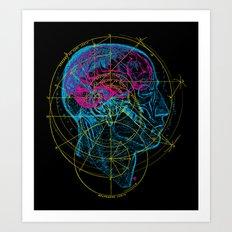 Anatomy Brain Art Print
