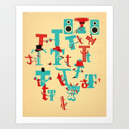 T Party Art Print