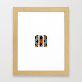 M Crisscross Framed Art Print