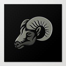 Bighorn Sheep Metallic Icon Canvas Print