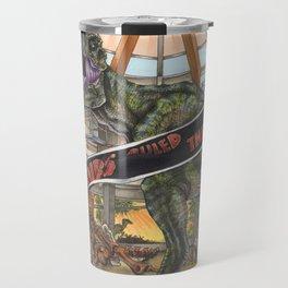 When Dinosaurs Ruled the Earth - Jurassic Park T-Rex Travel Mug