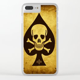 Death Card Ace Of Spades Clear iPhone Case