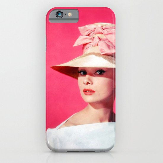 Audrey Hepburn Pink Version - for iphone iPhone & iPod Case