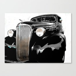 shiny black fenders Canvas Print