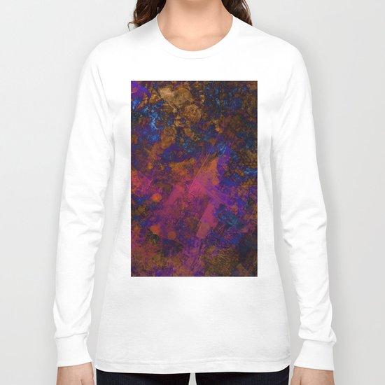 Day Dreaming - Abstract, metallic, textured, paint splatter style artwork Long Sleeve T-shirt