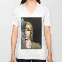 berserk V-neck T-shirts featuring Twilight Princess  by Berserk Cyborg Panda