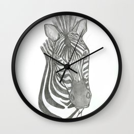 zebra head Wall Clock