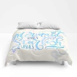 Mermaid kisses & Starfish wishes Comforters