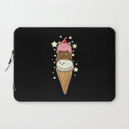 Cute Cat As Ice Cream Kawaii Laptop Sleeve