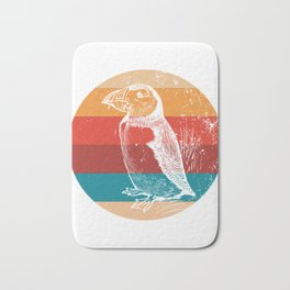 Vintage Puffin Lover Retro Bird Animal Lovers Gift Bath Mat