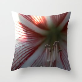 Botanical Gardens - Red Orchid #175 Throw Pillow