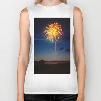 minnesota Biker Tanks featuring Minnesota Fireworks by Justine Joy