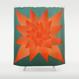 Origami Forest Birds  Shower Curtain