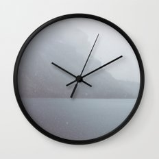 Snow in August Wall Clock