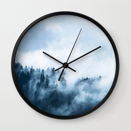 The Wilderness, Foggy Forest Wall Clock