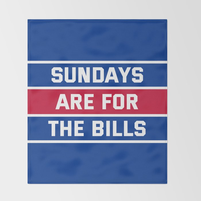 Sundays Are for the bills Throw Blanket