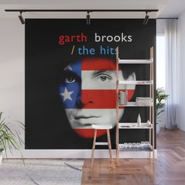 garth brooks face american tour 2021 Wall Mural