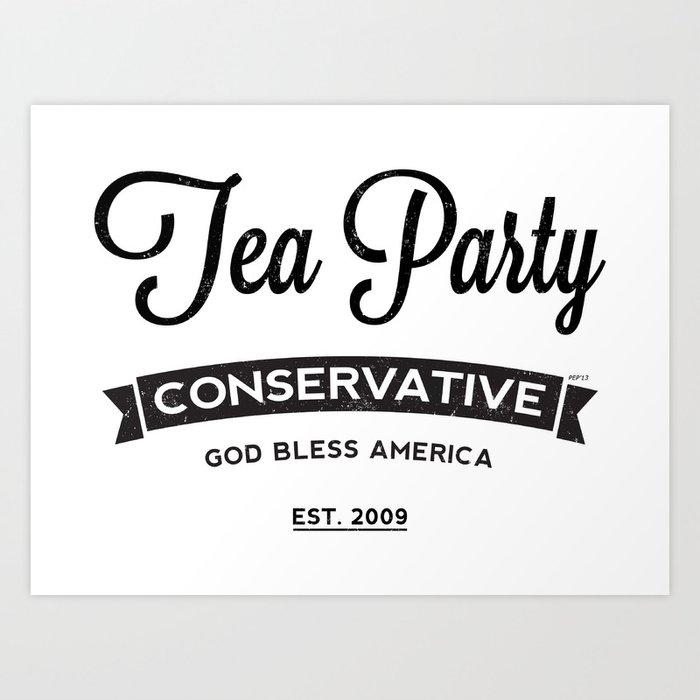 Tea Party Conservative Art Print