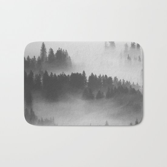 Everything Turns Gray #society6 Bath Mat