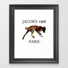 Mad Dog II Contour White Colors Jacob's 1968 urban fashion Paris Framed Art Print