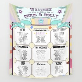 A1 841x594mm Personalised Wedding Table Plan Festival Style + 9 x Table Cards Wall Tapestry