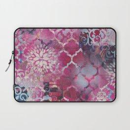 Mixed Media Layered Patterns - Deep Fuchsia Laptop Sleeve