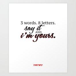 3 words. 8 letters. | gossip girl quote  Art Print