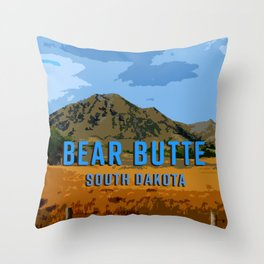 Bear Butte South Dakota Throw Pillow