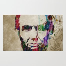 Abraham Lincoln Watercolor Modern Abstract GIANT PRINT ART Rug