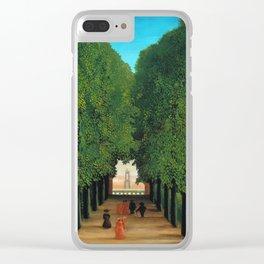 Henri Rousseau - Avenue in the Park at Saint Cloud Clear iPhone Case