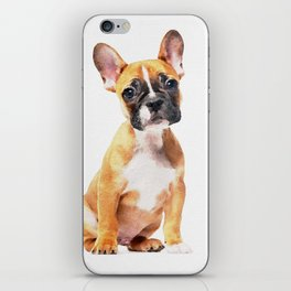 French Bulldog Puppy Watercolor iPhone Skin