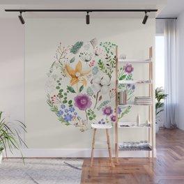 Winter Flowers Wall Mural