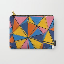 Abstract geometric polygonal crystal Carry-All Pouch