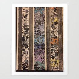 Abstract Leaf Study Art Print