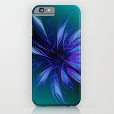fractal elegance - blue and turquoise Slim Case iPhone 6s