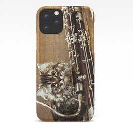 Music was my first love - cat and bassoon iPhone Case