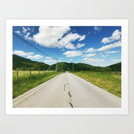 Towards • Appalachian Trail Art Print