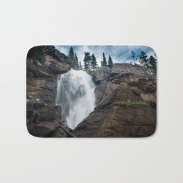 Waterfalls In The Rocky Mountain Bath Mat