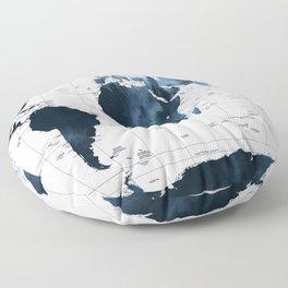 ALLOVER THE WORLD-Woods fog map Floor Pillow