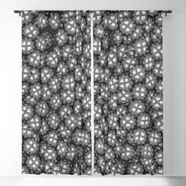 Poker chips B&W / 3D render of thousands of poker chips Blackout Curtain