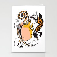 calvin and hobbes Stationery Cards featuring Calvin and Hobbes caricature design by Eric Goodwin