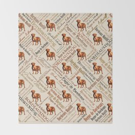 Dogue de Bordeaux Word Art Throw Blanket